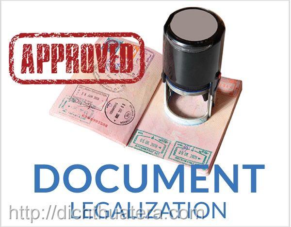 Dịch vụ Hợp pháp hóa lãnh sự, Legalization Documents