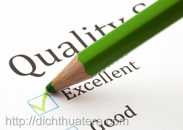 Quy định chất lượng dịch vụ dịch thuật hàng đầu