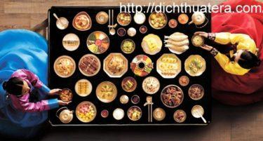 Dịch tài liệu ẩm thực hàn quốc