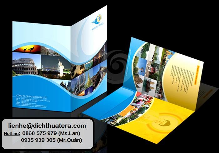 Dịch thuật Profile, Brochure, Catalogue - Dịch thuật tờ rơi, dịch thuật tem/nhãn mác sản phẩm