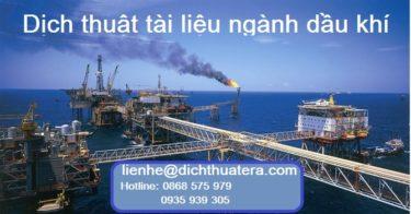 Dịch thuật tài liệu chuyên ngành dầu khí uy tín và chuyên nghiệp tại ERA