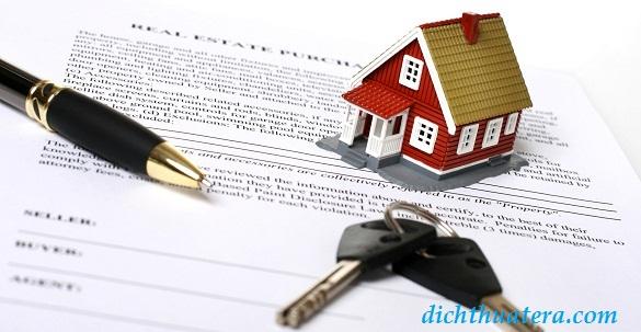 Mẫu dịch hợp đồng thuê nhà tiếng Anh, thuê căn hộ chung cư